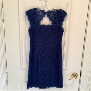 Adrianna Pappell Lace Overlay Sheath Dress, 2P